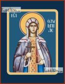 Олимпиада Константинопольская икона на дереве печатная