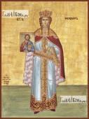Феодора Цареградская (ростовая), икона на дереве печатная