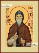 Александр Константинопольский икона на дереве печатная