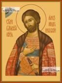 Александр Невский полубоком икона печатная на доске