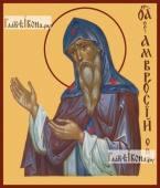Амвросий Оптинский, икона на доске печатная