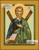 Андрей с крестом икона на дереве печатная