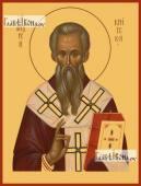 Андрей Критский, икона на дереве печатная