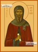 Антоний Великий икона на дереве печатная