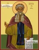 Арсений Великий, икона на дереве печатная