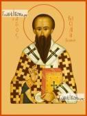 Василий Великий икона на дереве печатная