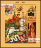 Георгий Победоносец (Чудо Георгия о змии), икона на дереве печатная