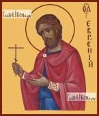 Евгений Севастийский, икона на дереве печатная