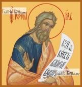 Иезекииль пророк, икона печатная на дереве