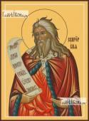 Илия пророк поясной икона на дереве печатная