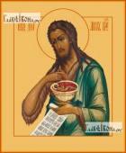 Иоанн Предтеча Креститель поясной печатная на дереве икона
