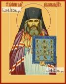 Иоанн Шанхайский и Сан-Францисский, с иконой, печатная на дереве икона