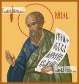 Иоиль пророк из 12-ти малых печатная на дереве икона