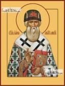 Иона, митрополит Московский, печатная на дереве икона