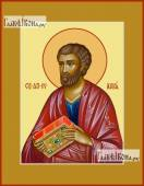 Лука апостол поясной печатная на дереве икона
