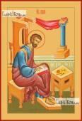 Лука апостол евангелист печатная на дереве икона