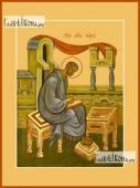 Марк апостол, печатная на дереве икона