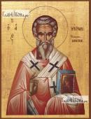 Мирон Критский, в греческом стиле, печатная на дереве икона