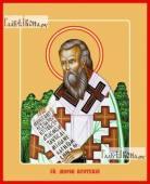 Мирон Критский, святитель, печатная на дереве икона