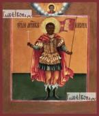 Никита Готфский ростовой печатная на дереве икона старинный образ