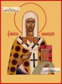 Никита епископ Новгородский печатная на дереве икона