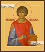 Пантелеимон великомученик, икона печатная