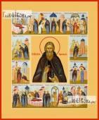 Сергий Радонежский (с житием), икона печатная