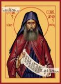 Силуан Афонский (поясной), икона печатная