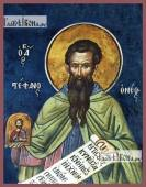 Стефан Новый преподобномученик, икона печатная