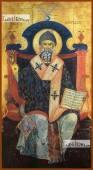 Спиридон Тримифунтский, в старинном стиле, печатная икона