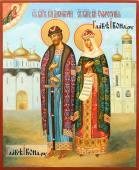 Димитрий Донской и Евфросиния Московская, писаная икона