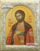 Александр Невский, икона в классической ризе
