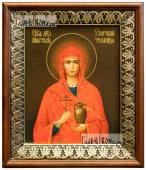 Анастасия Узорешительница икона на холсте в киоте-рамке