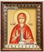 Валерия Кесарийская икона на холсте в киоте-рамке