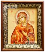 Феодоровская Божия Матерь, икона на холсте в киоте-рамке