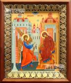 Благовещение икона на холсте в киоте-рамке