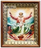 Троица Новозаветная Отечество икона на холсте в киоте-рамке