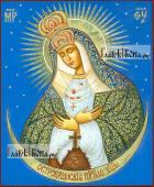 Остробрамская Божия Матерь рукописная икона на липовой доске
