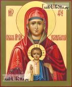 Услышательница Божия Матерь, писаная икона на доске