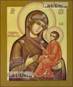 """Образ Божией Матери """"Тихвинская"""" с узорами на нимбе"""