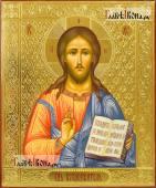 Вседержитель рукописная икона c резьбой по левкасу артикул 639