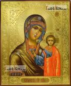 Казанская икона Божией Матери, оформление - чеканка и золочение