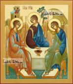 Писаная икона Троица копия иконы Андрея Рублева артикул 907