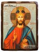 Спаситель Царь Небесный состаренная икона