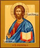 Писаная икона Господа в византийском стиле