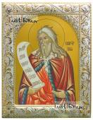 Илия Пророк поясной икона в ризе с классическим рисунком