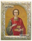 Великомученик Пантелеимон икона в ризе с классическим рисунком