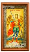 Икона в киоте святого Архангела Михаила ростовое изображение