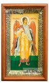 Ангел Хранитель - печатная икона на холсте в деревянном киоте