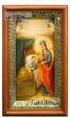 """Божия Матерь """"Целительница"""" - икона печатная на холсте в деревянном киоте"""